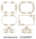 vector set of decorative... | Shutterstock .eps vector #113609857