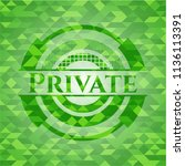 private green emblem with... | Shutterstock .eps vector #1136113391