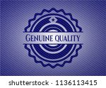 genuine quality emblem with... | Shutterstock .eps vector #1136113415