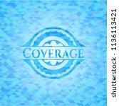 coverage sky blue emblem.... | Shutterstock .eps vector #1136113421