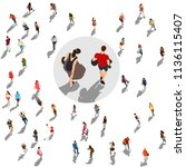 people crowd vector illustration | Shutterstock .eps vector #1136115407