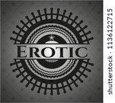 erotic black emblem. vintage. | Shutterstock .eps vector #1136122715
