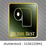 golden emblem or badge with... | Shutterstock .eps vector #1136122841