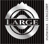 large silver emblem or badge | Shutterstock .eps vector #1136122889