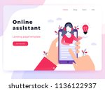 landing page template customer... | Shutterstock .eps vector #1136122937