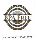 bpa free arabesque emblem... | Shutterstock .eps vector #1136122979