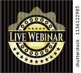 live webinar gold emblem or... | Shutterstock .eps vector #1136122985