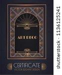 elegant vintage card  flyer ... | Shutterstock .eps vector #1136125241