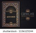 elegant vintage card  flyer ... | Shutterstock .eps vector #1136125244