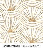 art deco seamless geometric... | Shutterstock .eps vector #1136125274