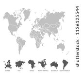 color world map vector | Shutterstock .eps vector #1136125544