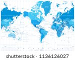 america centered political... | Shutterstock .eps vector #1136126027