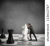 concept of strategy of a... | Shutterstock . vector #113612767