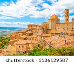 panoramic view of volterra  ... | Shutterstock . vector #1136129507