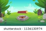 rest forest grass field bbq... | Shutterstock .eps vector #1136130974
