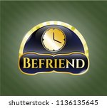 shiny emblem with clock  time... | Shutterstock .eps vector #1136135645