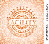 facility orange mosaic emblem...   Shutterstock .eps vector #1136135699