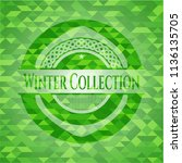winter collection green emblem... | Shutterstock .eps vector #1136135705