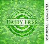 dairy free realistic green... | Shutterstock .eps vector #1136135765