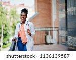 african american doctor female... | Shutterstock . vector #1136139587