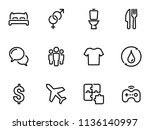 set of black vector icons ... | Shutterstock .eps vector #1136140997