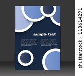 flyer or cover design | Shutterstock .eps vector #113614291