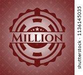 million retro red emblem | Shutterstock .eps vector #1136145035