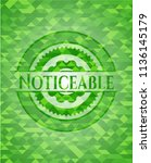 noticeable realistic green... | Shutterstock .eps vector #1136145179