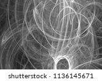 monochrome abstract fractal... | Shutterstock . vector #1136145671