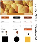 dark orange vector ui ux kit in ...