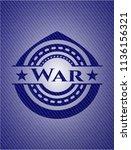 war emblem with denim texture | Shutterstock .eps vector #1136156321