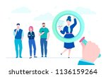 search for candidate   flat... | Shutterstock .eps vector #1136159264
