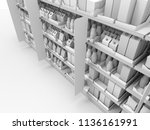 supermarket or grocery with...   Shutterstock . vector #1136161991