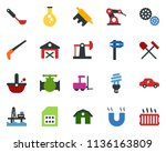 colored vector icon set   barn... | Shutterstock .eps vector #1136163809