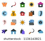colored vector icon set   sun... | Shutterstock .eps vector #1136163821