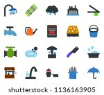 colored vector icon set  ... | Shutterstock .eps vector #1136163905