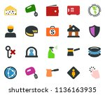 colored vector icon set  ... | Shutterstock .eps vector #1136163935