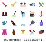 colored vector icon set  ... | Shutterstock .eps vector #1136163941