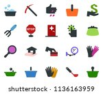 colored vector icon set  ... | Shutterstock .eps vector #1136163959