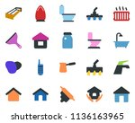 colored vector icon set  ... | Shutterstock .eps vector #1136163965