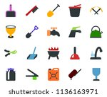 colored vector icon set   milk... | Shutterstock .eps vector #1136163971
