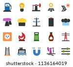 colored vector icon set  ... | Shutterstock .eps vector #1136164019