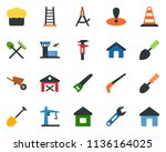 colored vector icon set   barn... | Shutterstock .eps vector #1136164025