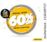 big sale banner design template ... | Shutterstock .eps vector #1136189717