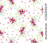 little floral seamless pattern... | Shutterstock .eps vector #1136203619