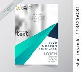 business annual report brochure ... | Shutterstock .eps vector #1136216081