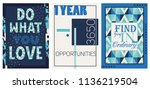 creative motivational posters. | Shutterstock .eps vector #1136219504