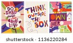 creative motivational posters.    Shutterstock .eps vector #1136220284