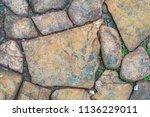 cobblestone pebble abstract...   Shutterstock . vector #1136229011