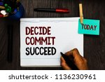 conceptual hand writing showing ... | Shutterstock . vector #1136230961